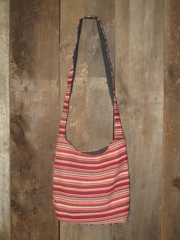 Striped Cotton Canvas Bag - Multicolor Red II