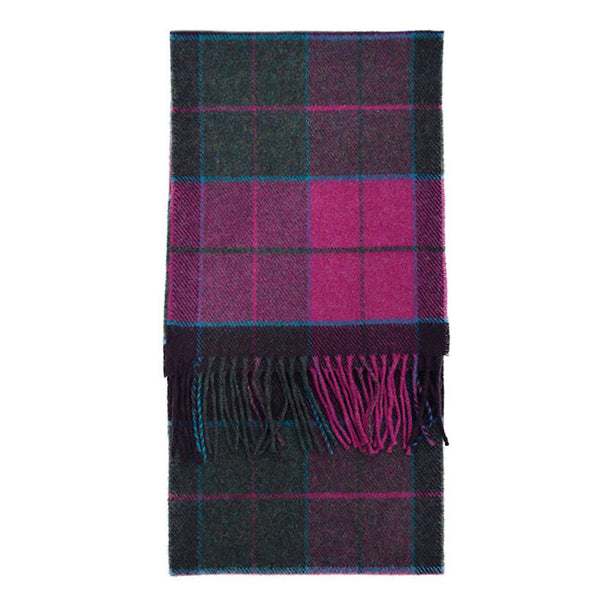 100% Lambswool Irish Scarf - Carrigan Purple Plaid -   - 1