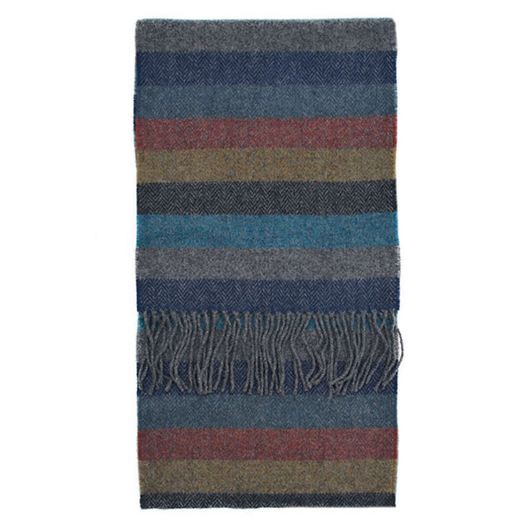 100% Lambswool Irish Scarf - Hawthorne Hill Stripe -   - 1