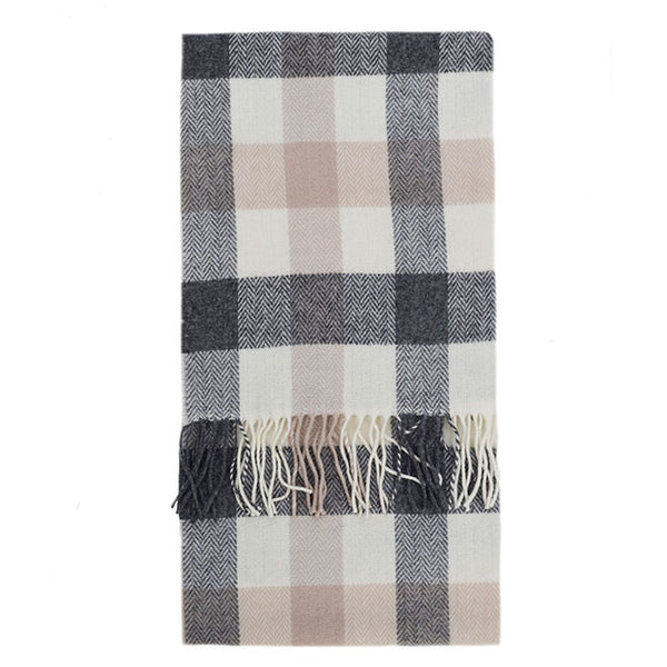 100% Lambswool Irish Scarf - Ashbrook Plaid -   - 1