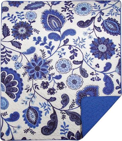 Mood Indigo Quilted Throw by Christine Graf©