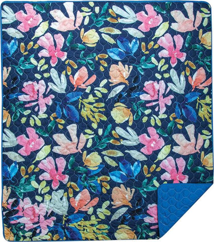 Spring Cascade Quilted Throw by Stephanie Ryan©