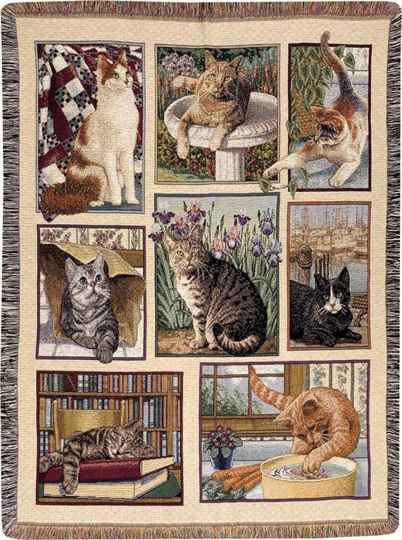 Kitty Corner Throw Blanket by Linda Spivey©