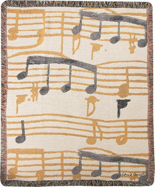 Music Stanzas I Printed Pillow