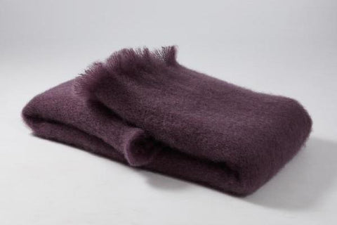 Amethyst Mohair Scarf - Ezcaray, Spain