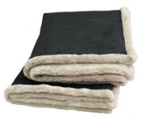 Arctic Throw - Black Faux Leather reversed Pearl Faux Fur|Decorating Option