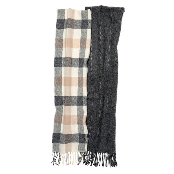 100% Lambswool Irish Scarf - Ashbrook Plaid -   - 2
