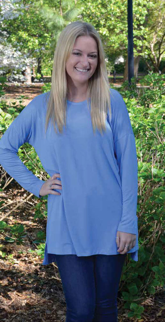 Sky Blue Bamboo Tunic Top