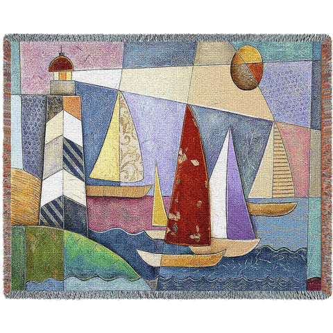 Bay Regatta Woven Throw Blanket