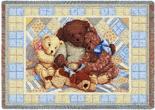 Bear Hugs Woven Mini Blanket