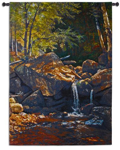 Thompson Cascade Wall Tapestry by Albert Bierstadt© -