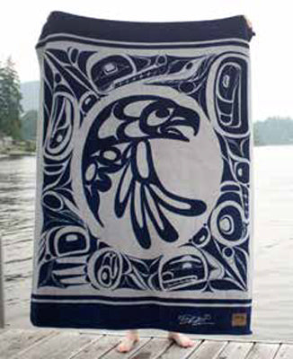 "Bill Helin© ""The Eagle"" Velura Throw Blanket - Tsimshian"