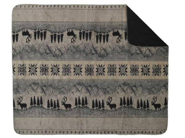 Denali Microplush™ Rustic Lodge Throw - Black Forest Friends -   - 2