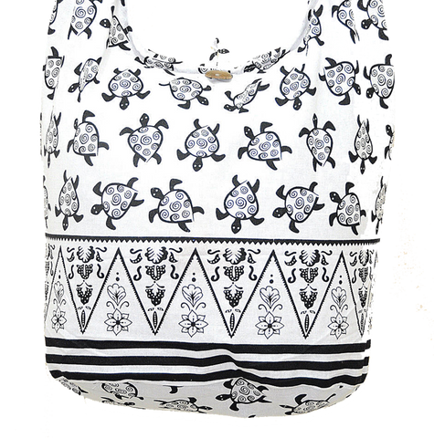 Boho Sling Bag - Turtle Gypsy White