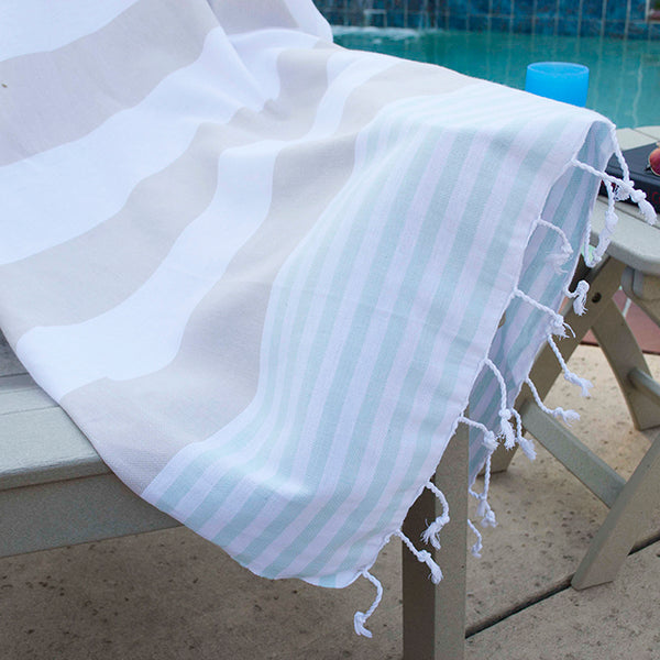Boreas Turkish Cotton Towel - Beige Mint