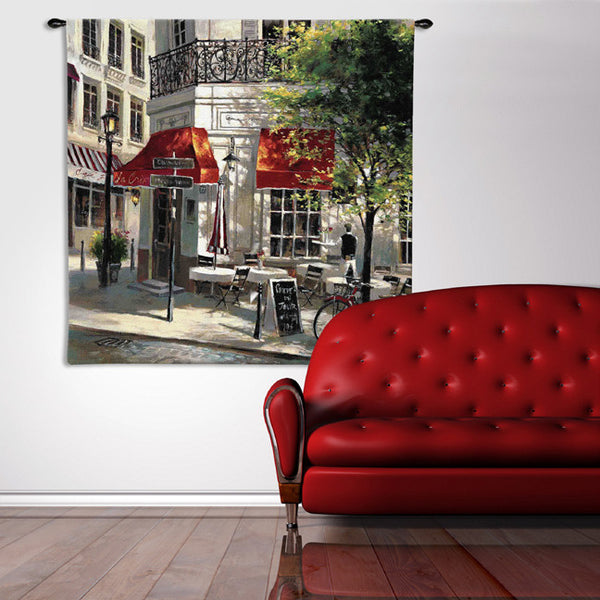 Corner Cafe Wall Tapestry by Brent Heighton© - Cityscape