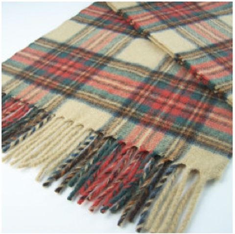 Tartan Antique Dress Stewart Merino Lambswool Scarf - Wales