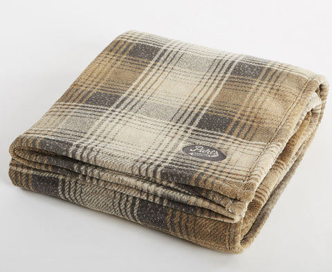 Gray Plaid Velura™ Cabin Throw|Decorating Option