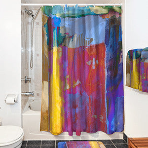 Shower Curtain Custom Printed with Your Art Design or Photo Image -