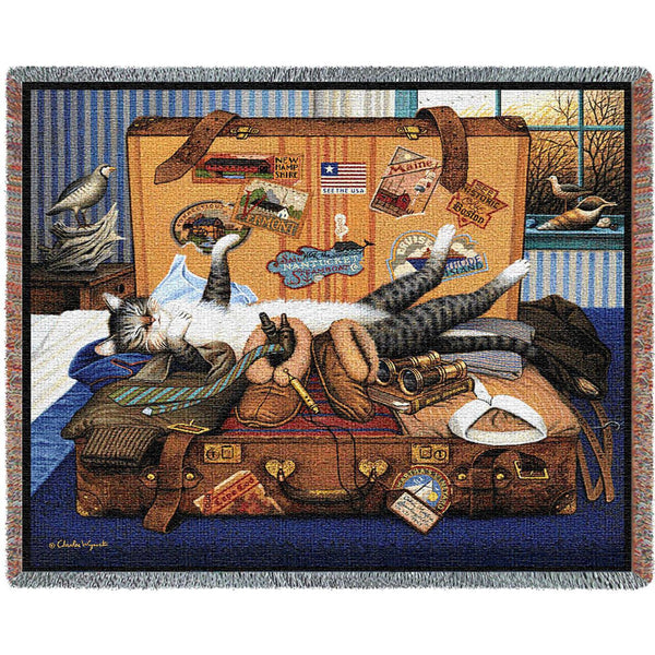 Charles Wysocki© Mabel The Stowaway Totes Throws Pillows Wall Tapestry