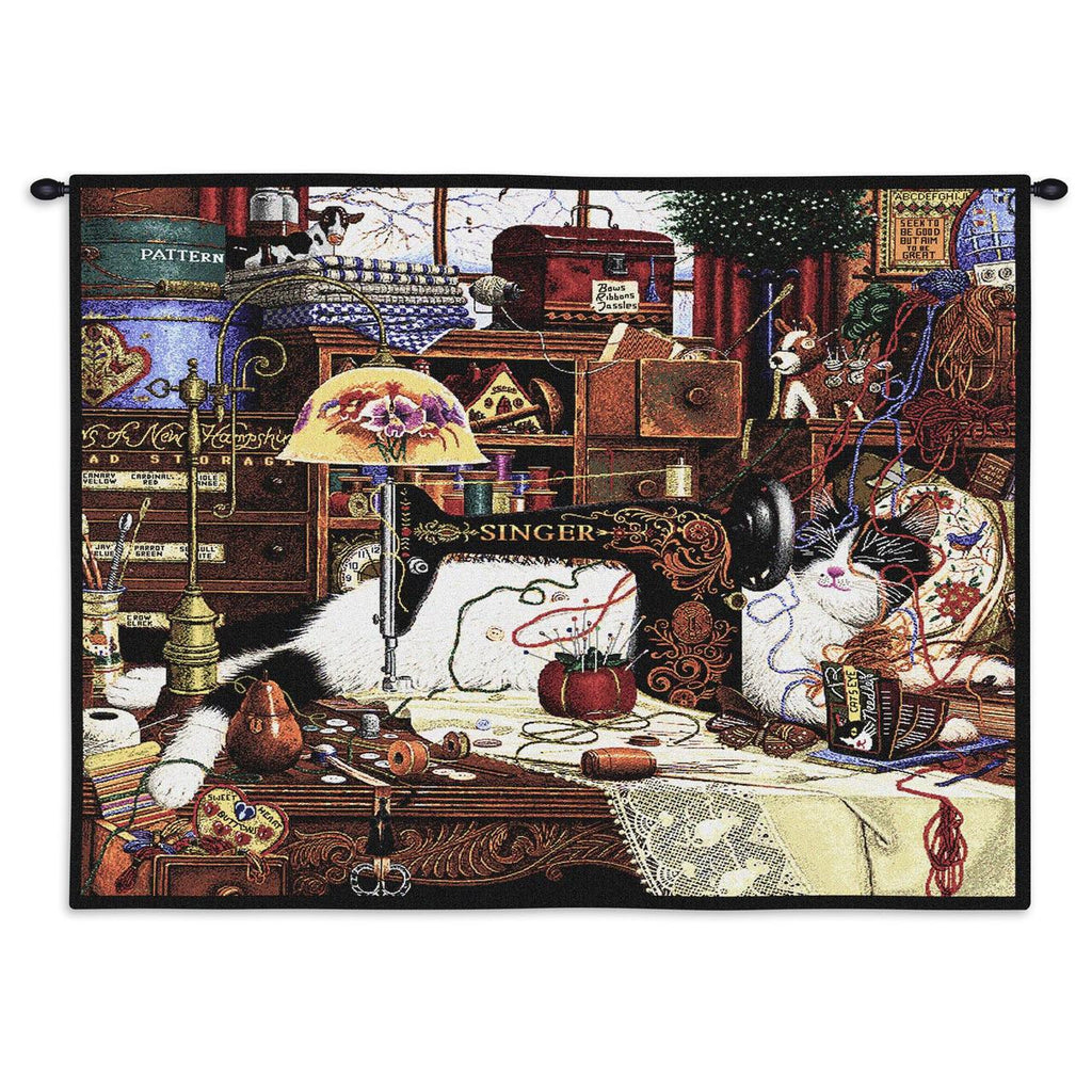 Charles Wysocki© Maggie The Messmaker Totes Throws Pillows Wall Tapestry