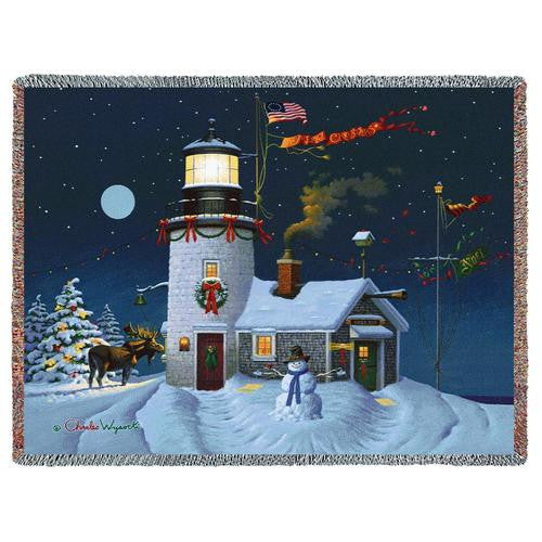 Charles Wysocki© Take Out Window Woven Throw Blanket