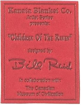 "Bill Reid© ""Children of the Raven"" Velura Throw Blanket"