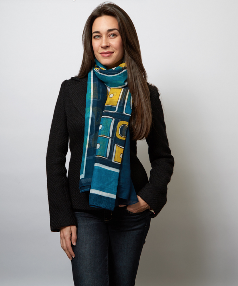 The Chilkat Voile Scarf-Sarong Northwest Chilkat Design