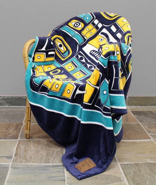 The Chilkat Printed Velura Throw Blanket