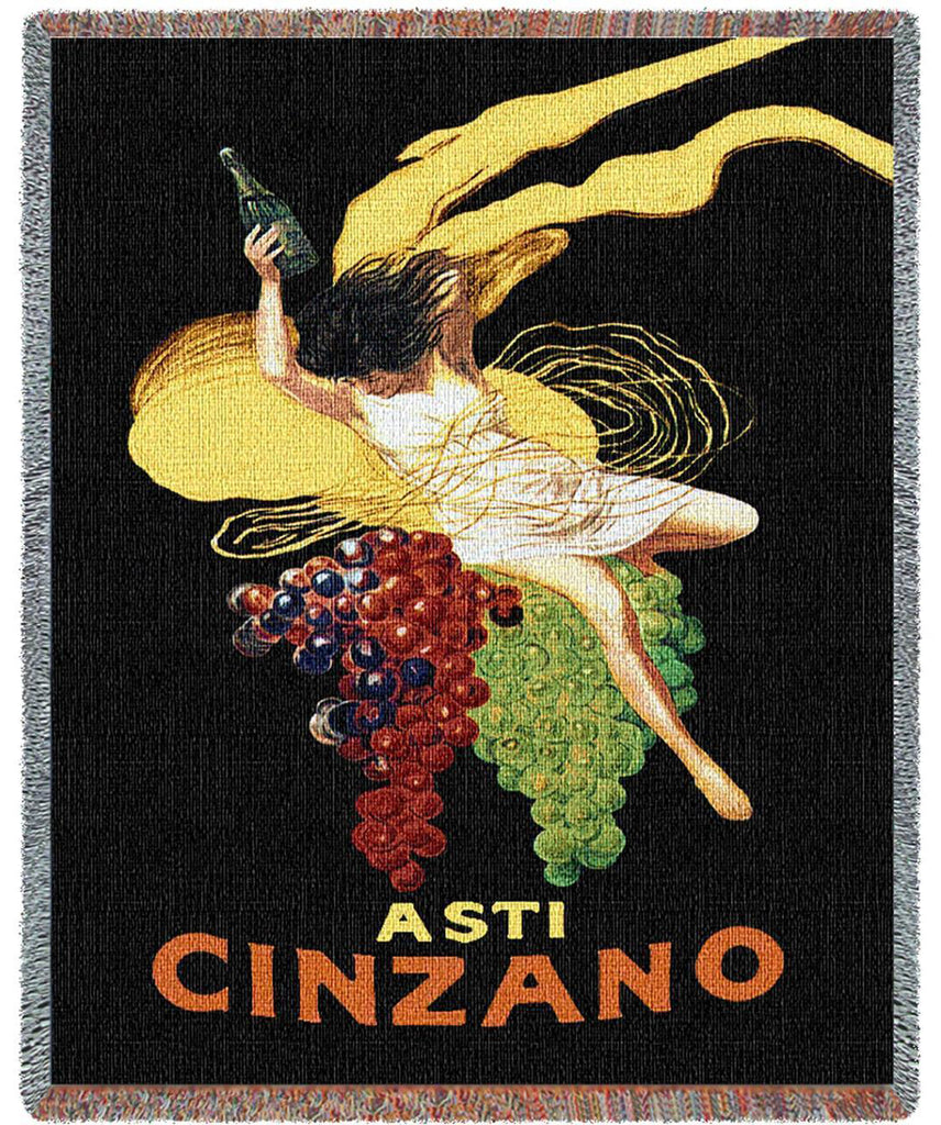 Cinzano Woven Throw Blanket by Leonetto Cappiello©
