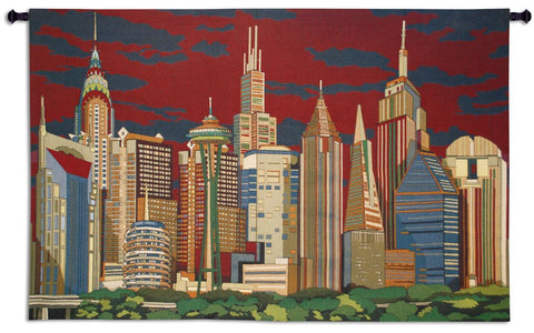 Citiliners Wall Tapestry - Cityscape