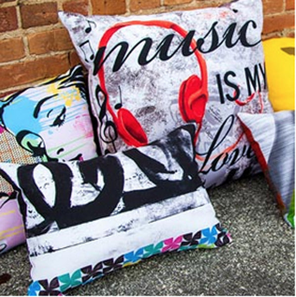 Outdoor Custom Throw Pillows Printed with Your Art -   - 1