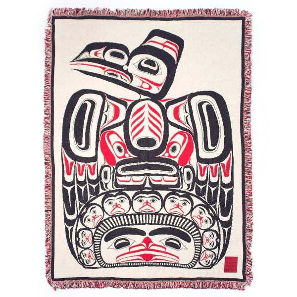 "Bill Reid© ""Children of the Raven"" Woven Cotton Throw Blanket"
