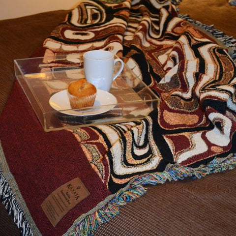 Haida Bentwood Box Tapestry Throw by Edenshaw©