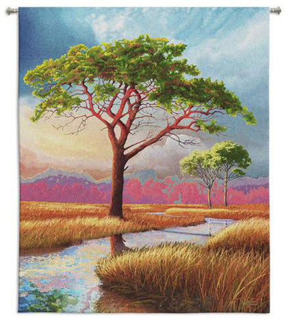 Daybreak on the Marsh Wall Tapestry -