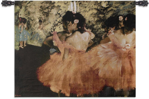 Edgar Degas© Dancers In Pink Wall Tapestry -
