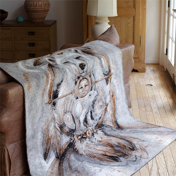 Denali Microplush™ Rustic Lodge Throw - Spirit Bear
