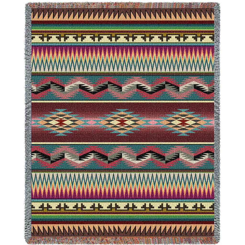Desert Stripe Woven Throw Blanket -