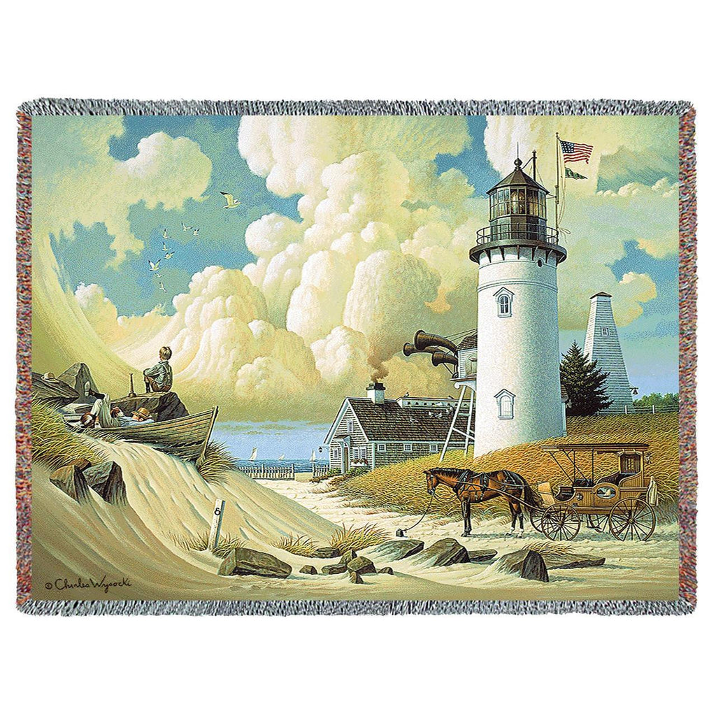 Dreamers Woven Throw Blanket by Charles Wysocki©