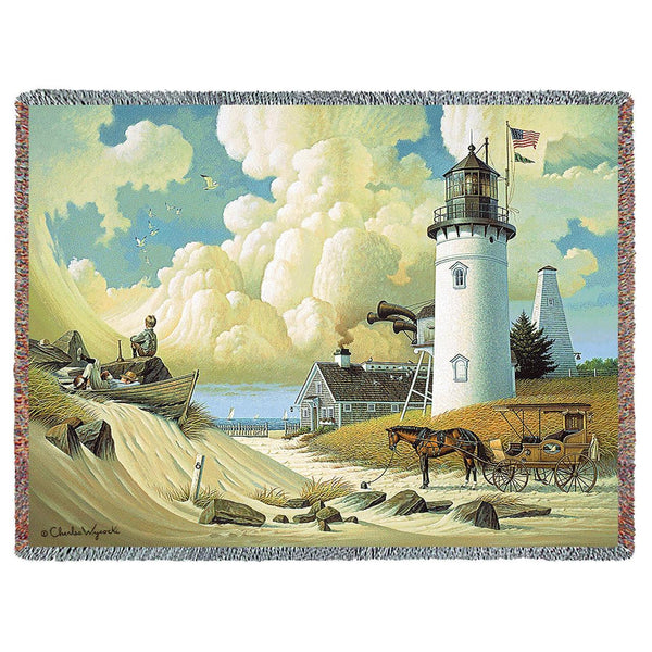 Dreamers Woven Throw Blanket By Charles Wysocki 169 Woven