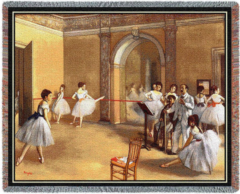 Edgar Degas© Dance Foyer Woven Throw Blanket -