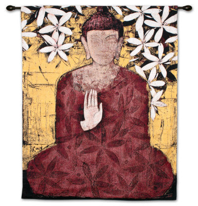 Enlightenment Asian Inspired Wall Tapestry by Ivo Stoyanov©