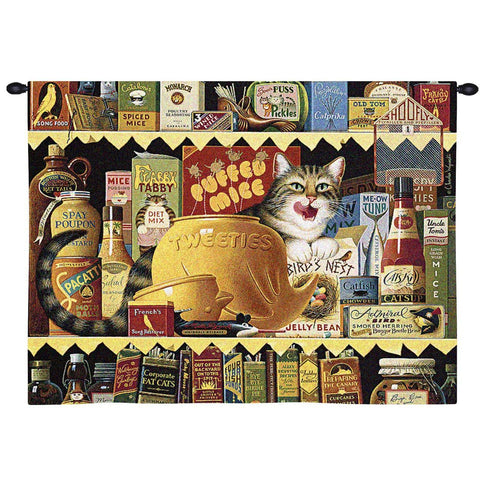 Charles Wysocki© Ethel The Gourmet Throw|Pillow Cover|Wall Tapestry|Tote