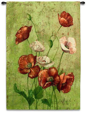 Fleur Du Roges Wall Tapestry by Fabrice de Villeneuve©