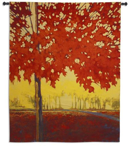 Fire Maple Wall Tapestry by J. Charles© -