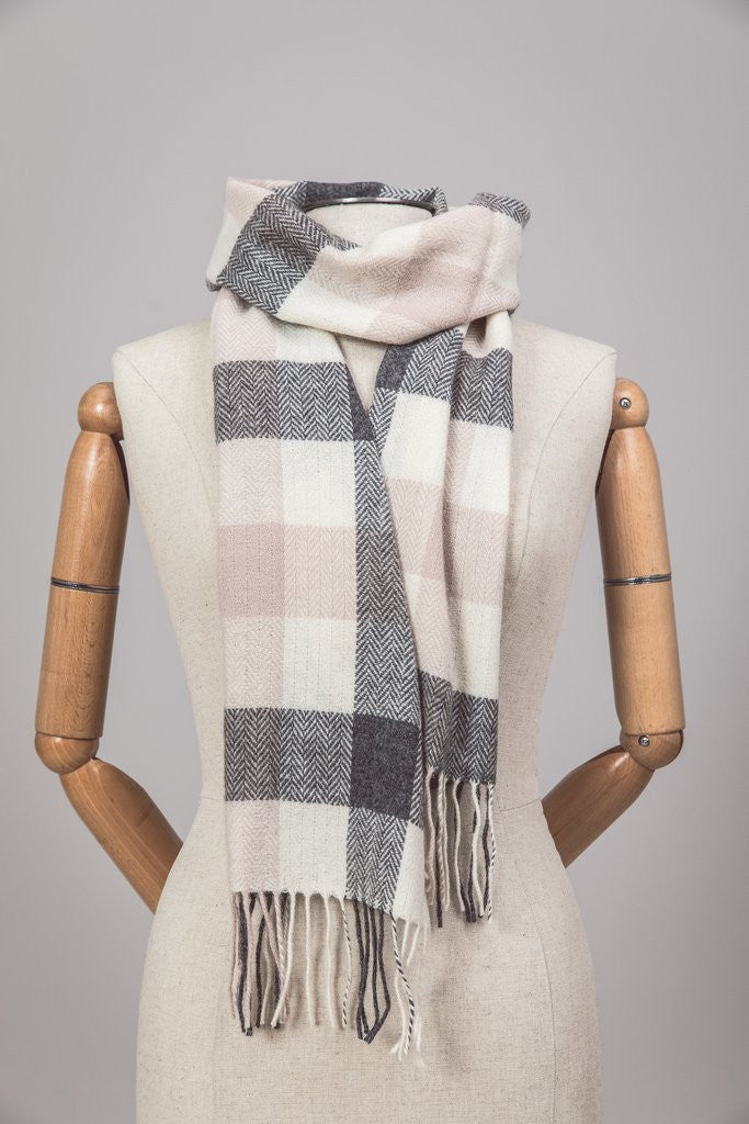 Irish Lambswool Scarf - Ashbrook Plaid - Ireland