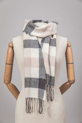 Foxford Lambswool Scarf - Ashbrook Plaid - Ireland