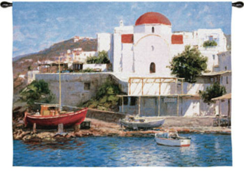Mykonos II Wall Tapestry by George Bates© -
