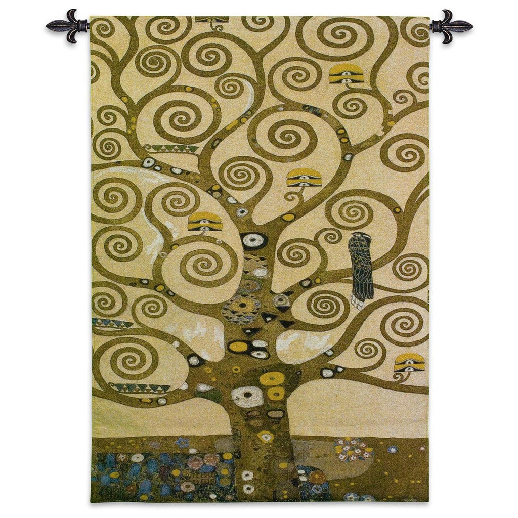 Gustav Klimt© Tree of Life Wall Tapestry w/Gold Embellishment