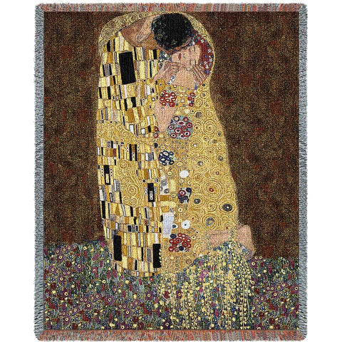 Gustav Klimt© The Kiss Woven Throw Blanket